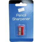 Individually wrapped plastic pencil sharpener