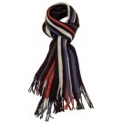 Men's warm striped scarf in assorted colours - blue, black, beige, multi