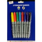 colourful permanent markers