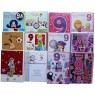 Birthday cards, girl, age 9,every card is different,order as many as you need.
